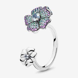 🍓Pandora Glorious Blooms Ring, Multi-Colored CZ